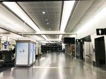 Début de la matinée chez Logan International Airport, Boston, mA Images libres de droits