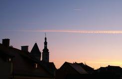 Début de la matinée dans Czechia Images stock