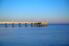 Début de la matinée de pilier de pêche Photographie stock