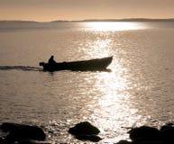 Début de la matinée en mer Images stock
