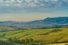 Début de la matinée en Toscane images libres de droits
