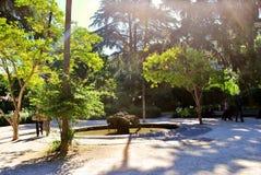 Début de la matinée en villa romaine Lazaroni Image stock