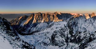 Début de la matinée haut Tatras - en Slovaquie Image libre de droits