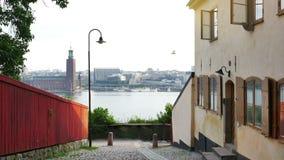 Début de la matinée de Stockholm Suède clips vidéos