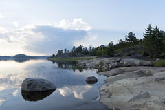 Début de la matinée sur l'Île déserte Image stock
