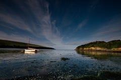 Début de la matinée sur l'estuaire d'Erme, Photos stock
