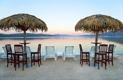 Début de la matinée sur la plage Photographie stock libre de droits