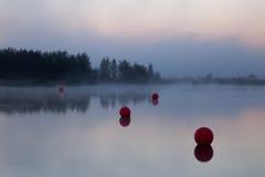 Début de la matinée sur le lac Photographie stock