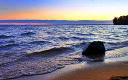 Début de la matinée sur le lac Photos stock