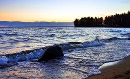 Début de la matinée sur le lac Image stock