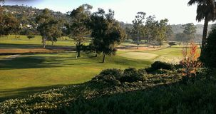 Début de la matinée sur le terrain de golf Photos stock