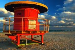 Début de la matinée sur la plage du sud, Miami Beach Image stock