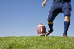 Début du football horizontal Photographie stock libre de droits