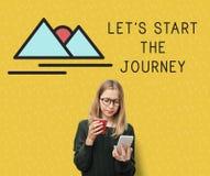 Début laissé le mode de vie d'aventure de voyage Image stock
