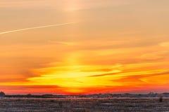 Década colorida mesma do sol de dezembro imagem de stock royalty free