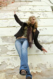 Décalage blond de fille Image libre de droits