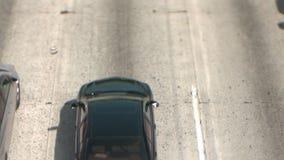 Décalage d'inclinaison de circulation dense à Los Angeles clips vidéos