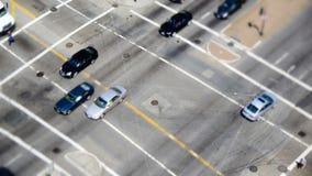 Décalage d'inclinaison de laps de temps du trafic à San Francisco du centre banque de vidéos