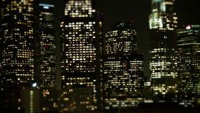 Décalage d'inclinaison - horizon du centre de Los Angeles banque de vidéos