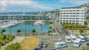 Décalage Wellington Marina Time Lapse d'inclinaison banque de vidéos