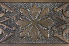 Décalque âgé en métal (plan rapproché) Image libre de droits