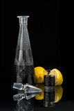 décanteur en cristal Photographie stock