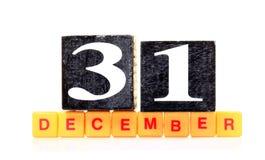 31 décembre Image stock