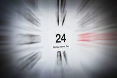 24 décembre Images libres de droits