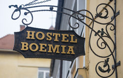 8 DÉCEMBRE 2015 - BRASOV : la pension Boemia Image stock
