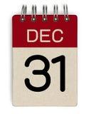 31 décembre calendrier Photographie stock libre de droits