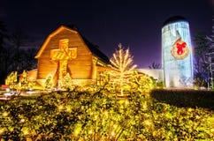 21 décembre 2013, Charlotte, OR - célébration de Noël au bil Image stock