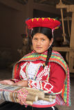 27 décembre 2015, Cusco : Dame péruvienne locale non identifiée dans le tradi Photo stock