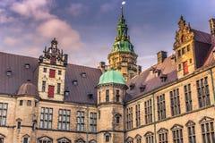 3 décembre 2016 : Détail de la cour intérieure de Kronborg cas Images stock