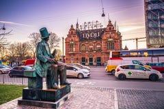 2 décembre 2016 : Entrée aux jardins de Tivoli à Copenhague, Image libre de droits