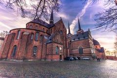 4 décembre 2016 : Façade de la cathédrale de St Luke dans Rosk Photographie stock libre de droits