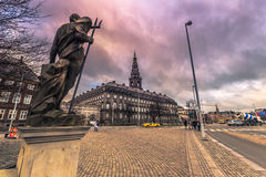 5 décembre 2016 : Façade de palais de Christianborg à Copenhague, Photos libres de droits