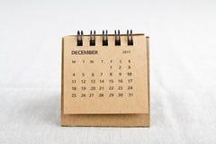 décembre Feuille de calendrier Photos libres de droits