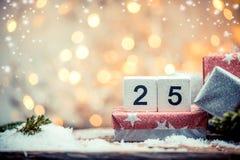 25 décembre, jour de Noël Photo stock