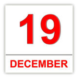 19 décembre Jour sur le calendrier illustration stock