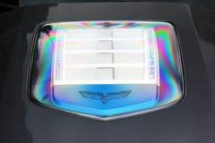 30 décembre, Kherson, Ukraine Moteur Chevrolet Corvette ZR1 images stock