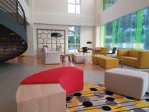 16 décembre 2016 La conception intérieure d'IBIS dénomme l'hôtel Kuala Lumpur Sr Damansara Image libre de droits