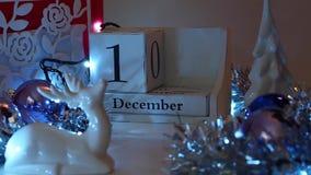 13 décembre la date bloque Advent Calendar banque de vidéos