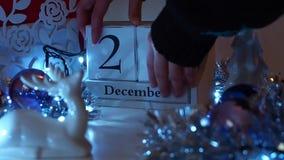 20 décembre la date bloque Advent Calendar banque de vidéos