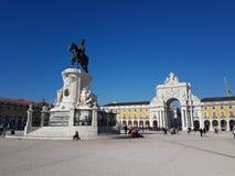 22 décembre 2017, Lisbonne, Portugal - place de commerce Image stock