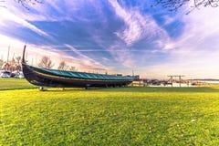 4 décembre 2016 : Un bateau de Viking dehors chez Viking Ship Muse Photos stock