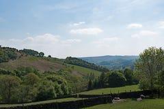 Décence utopique rurale, dans Haversage idylic, Derbyshire photographie stock libre de droits