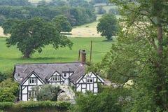 Décence utopique rurale - vue de la traînée de grès, dans Cheshire photo libre de droits