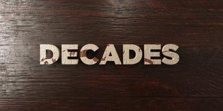 Décennies - titre en bois sale sur l'érable - image courante gratuite de redevance rendue par 3D illustration libre de droits