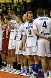Décharge Champions League 2010/2011 de CEV - quatre finaux Image libre de droits