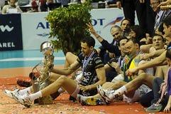 Décharge Champions League 2010/2011 de CEV - quatre finaux Photo stock